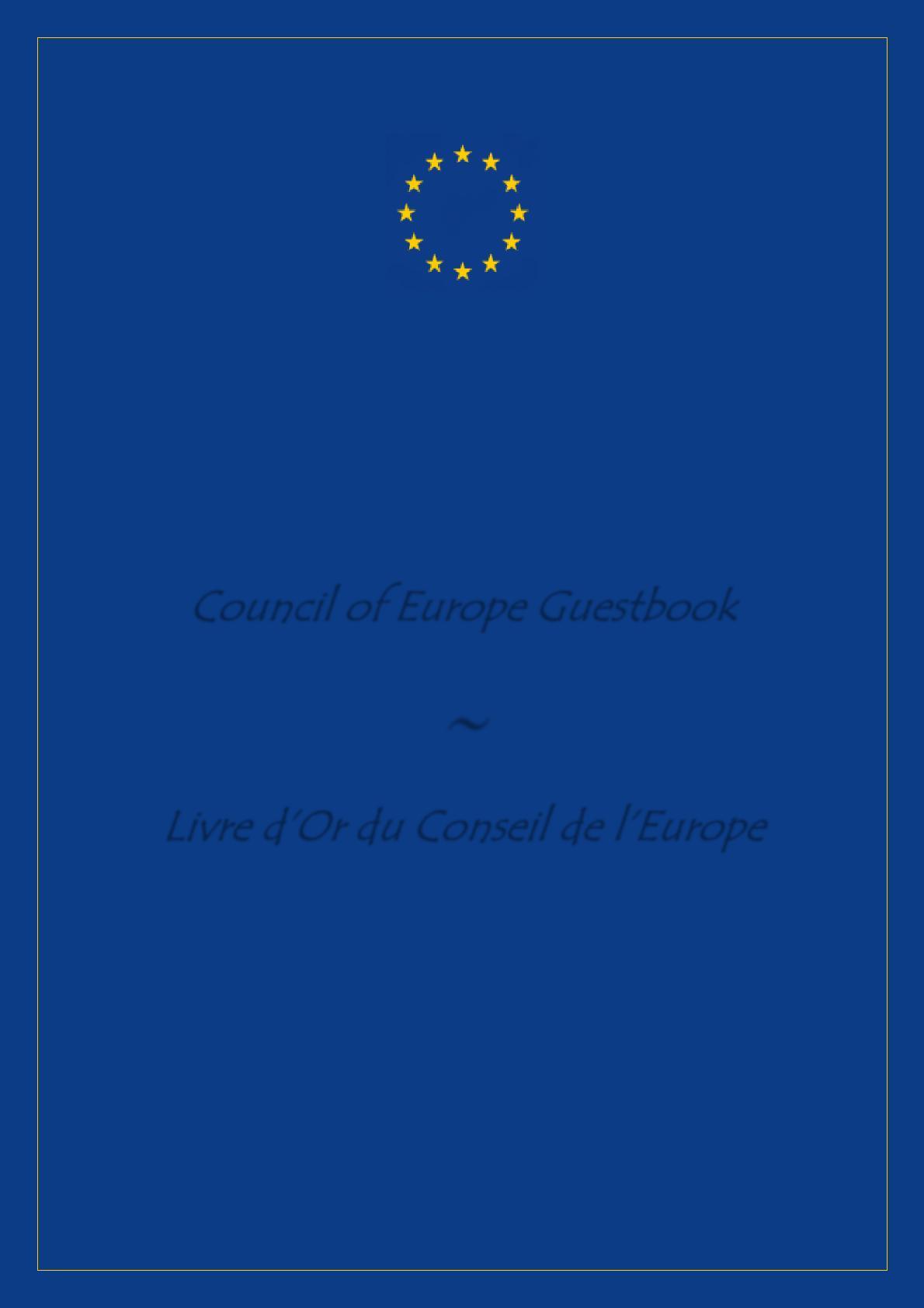 Livre D Or Du Conseil De L Europe 89 112